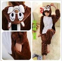 Unisex Adult Kigurumi Pajamas Anime Cosplay Costume Onesie Sleepwear  Squirrel