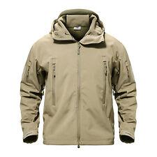 Shark Skin Waterproof Mens Jacket Tactical Winter Overcoat Military Army Jackets