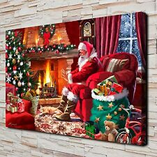 Christmas Santa Claus Paintings HD Print on Canvas Home Decor Wall Art Pictures