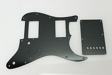Strat Stratocaster Smoke Mirror pickguard set Fender HXH