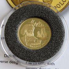 KAZAKHSTAN 2004 MARCO POLO .999 GOLD PROOF 100 TENGE - coa