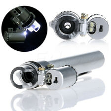 Handheld Pocket 100X Gem Jewelry LED Light Loupe Pen Microscope Magnifier Shape