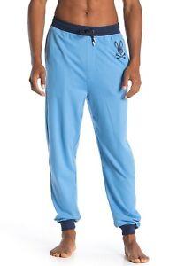 Psycho Bunny Men's Cuffed Cotton Modal Jersey Lounge Jogger Pants