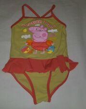 Gorgous Green orange PEPPA PIG swimming bathing suit costume age 3 4 Years