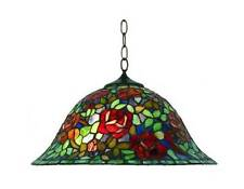 DAHLIA TIFFANY STYLE LEADLIGHT 42CM (16 INCH) PENDANT - WILL SHIP AUSTRALIA WIDE