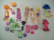 LOT OF 3 POLLY POCKET DOLLS BOY DOLL CLOTHES SHOES PURSES