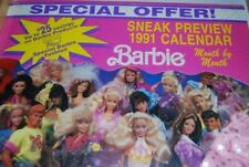 Barbie Sneak Preview 1991 15 Month Calendar with Dress