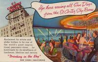 Postcard El Cortez Hotel San Diego CA