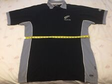 New Zealand All Blacks Rugby Union Polo Shirt Jersey XXL 46 Inch Chest.