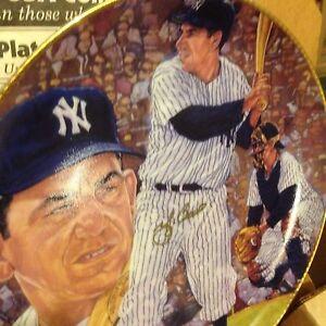 Yogi Berra NY YANKEES Personally Signed Autographed Gartlan Plate 1990 (4 avail)