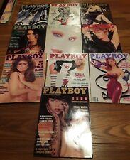 Set of 10 Playboy Magazines 1988.