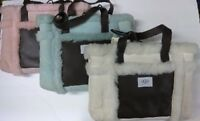 NEW Authentic UGG Australia Suede Leather Shearling Sherpa Sheepskin Tote Bag!!!
