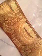 wunderschöne Barock Bordüre CARMEL,Gold ,5m lang 17,7 cm breit