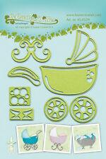 Leabilities Cutting & Embossing Die  Baby Stroller/Cradle/Bath  45.0539