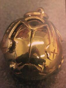 Antique  Masonic Ball Folding Cross FOB Pendant Charm 9K