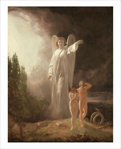 Faed - Expulsion of Adam and Eve fine art print poster wall art various sizes