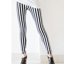 2017 Autumn kinny Chic Look Vertical Stripe Zebra Women Leggings Pants