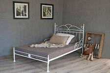 vintage flair   metallbett 160x200  in weiss ecru oder schwarz  inkl. lattenrost