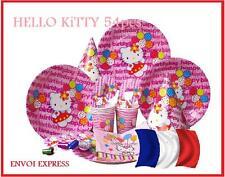 SET TABLE  6 pers  thème HELLO KITTY ANNIVERSAIRE FETE   54 pièces.