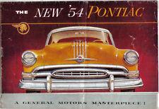 Pontiac Chieftain speciale Chieftain STAR CHIEF 1954 ORIGINALE USA SALES BROCHURE