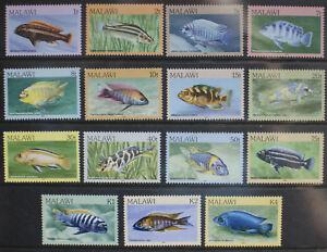 Malawi 1984 Fish. SG 688-702. Set of 15 MNH