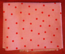Cath Kidston / Ikea Rosali Collection FABRIC Red Polka Dots on Pink Cotton Piece