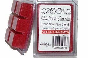 ChicWick 2Pack Apple Cinnamon Wax Melts 6oz Wax Chunk Wax Cube Wax Tart