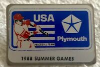 1988 USA Olympic Baseball Team original Plymouth pin (Seoul Olympics gold medal)