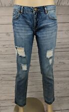 Nine West Vintage American Women's Weekend Distressed Denim Straight Leg Jeans 2