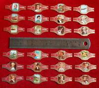 """THUNDERBIRDS: FULL SET of 24 SMALL CIGAR bands - from """"Karel I"""" cigars (1968)"""