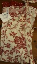 New April Cornell Felicity Red Floral Toile Holiday Kitchen Cotton Apron