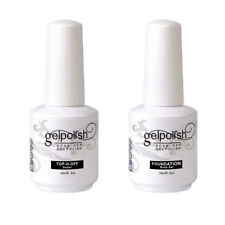 2pcs Elite99 No Wipe Top y Coat Base Coat Esmalte Semipermanente De Uñas UV LED