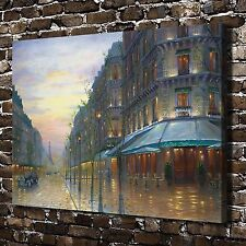 Cafe De Paris Paintings HD Print on Canvas Home Decor Wall Art Pictures Posters