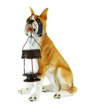 Outdoor Garden Landscape Walkway decoration Box Dog With Lantern Solar Light