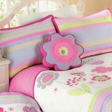 5PC Maggie Miller Twin Set Quilt Sham Shabby Chic Flower Girl Butterfly Sheet