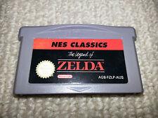 Legend of Zelda NES Classics Nintendo Gameboy Advance Cartridge GBA
