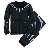 NWT Disney Store Black Panther Costume PJ Pals Sleep Set Pajama Boys 5 7 8