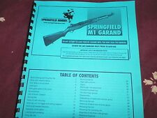 SPRINGFIELD  M1  GARAND,  Instruction Manual,  43 Pages