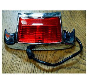 59658-79 punta decorazione luce parafango posteriore cromato lente rossa Harley