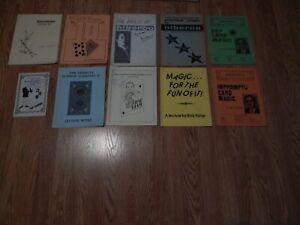Vintage Magic book lot - 10 booklets