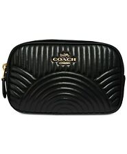 COACH Deco Belt Bag in Quilted Leather Pouch ~NWT~ Black 39685