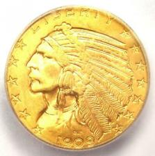 1909 Indian Gold Half Eagle $5 Coin - ICG MS65 - Rare in MS65 - $7,750 Value!
