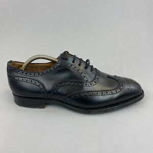 Church's Black Leather Brogues Lace Up Dress Shoes Custom Grade Size UK7.5 G