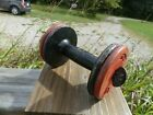 Antique York Iron Dumbbell Curling Expandable Weight Fitness
