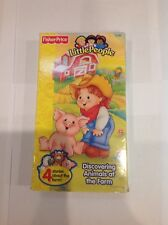 """Fisher-Price Little People VHS """"Discovering Animals At The Farm"""""""
