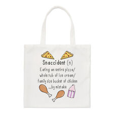 Snaccident definición Small Tote Bag-Snack accidente gracioso hombro