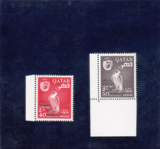 QATAR Falcon Bird 1966 New Currency Opts 40d & 50d (SG 145-46) Superb MNH & RARE