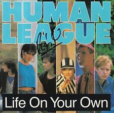 """PHIL OAKEY HAND SIGNED HUMAN LEAGUE 7"""" VINYL LIFE ON YOUR OWN."""