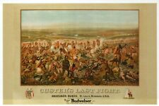 Custer's Last Fight, Anheuser Busch Budweiser, George, Beer Ad - Modern Postcard