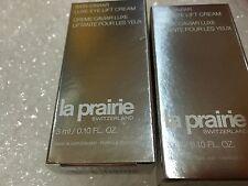 La Prairie SKIN CAVIAR LUXE EYE LIFT cream  6ml/.34oz , 2pc X3ml/0.17oz BNIB